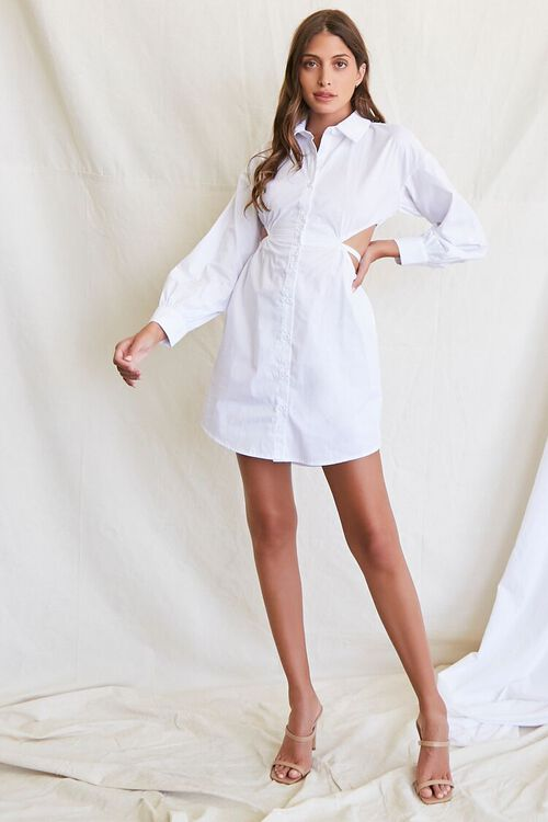 Cutout Shirt Dress, image 4