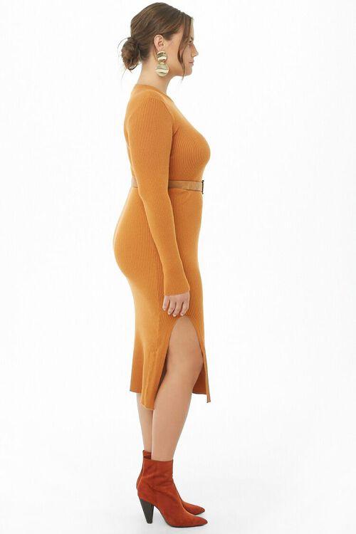 Plus Size Belted Midi Dress, image 2