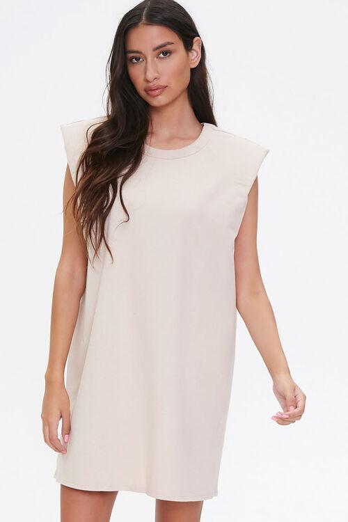 T-Shirt Shoulder Pad Dress, image 1