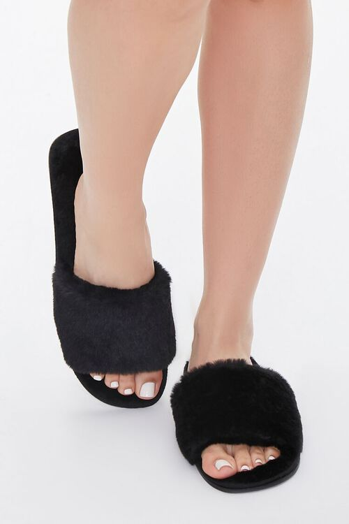 Faux Fur Slippers, image 4