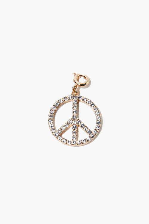 Rhinestone Peace Charm, image 1