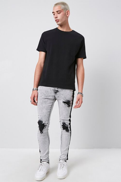 Contrast Wash Distressed Skinny Jeans, image 5