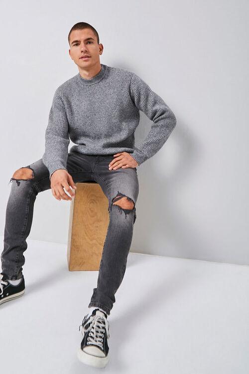 Marled Ribbed Mock Neck Sweater, image 5