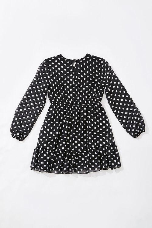 Girls Chiffon Polka Dot Dress (Kids), image 2