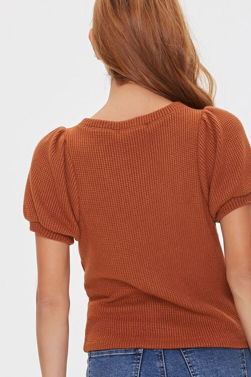 Ribbed Knit Lace-Up Top, image 3