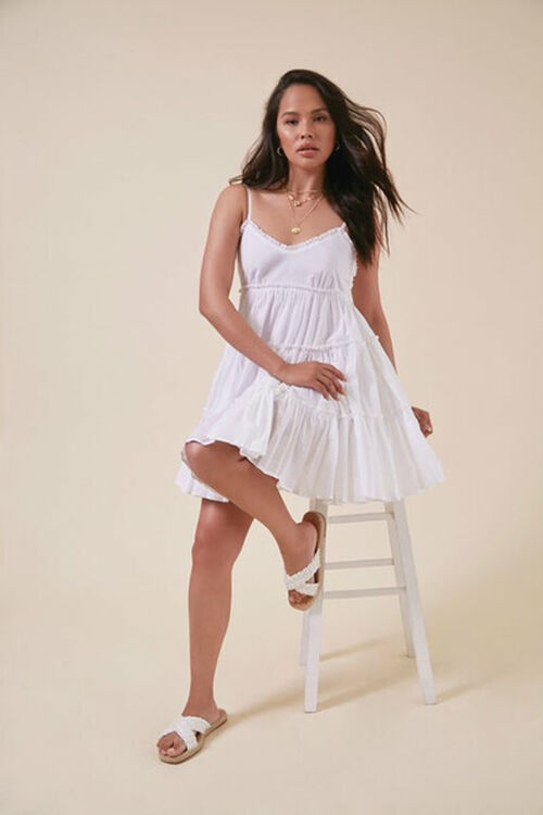 Tiered Fit & Flare Mini Dress, image 6