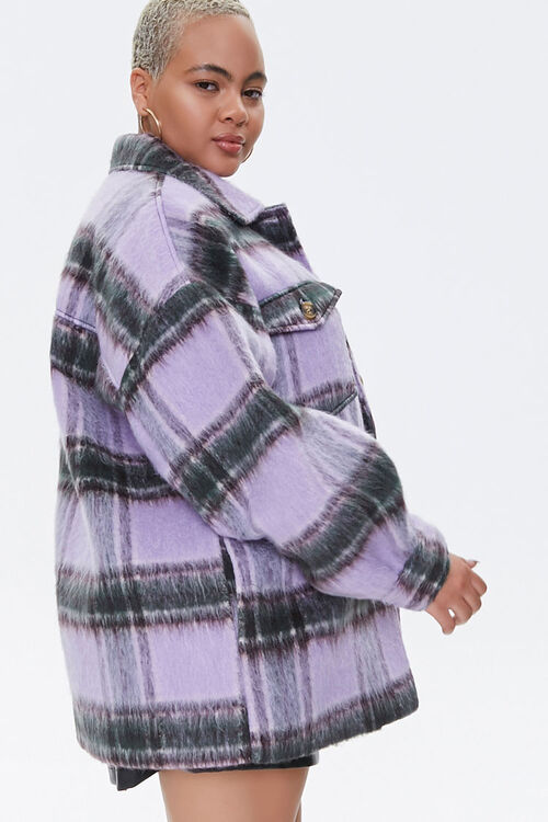 Plus Size Button-Front Plaid Jacket, image 2