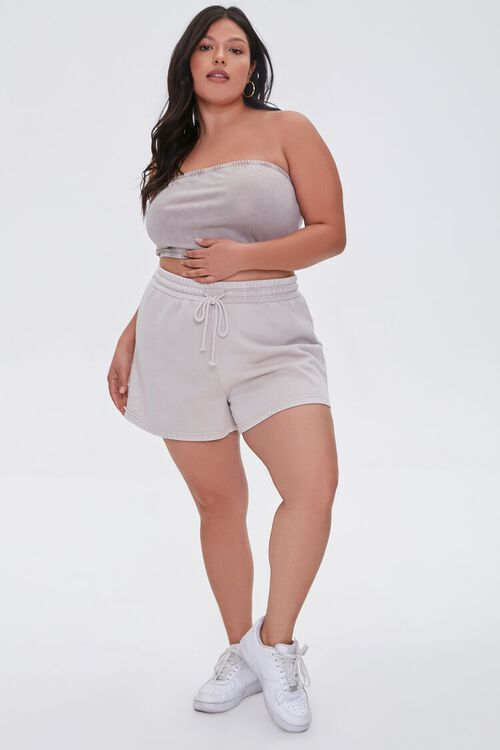 Plus Size Mineral Wash Tube Top, image 4