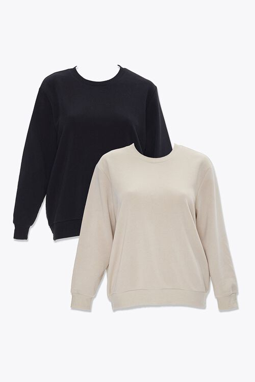 Plus Size Crew Sweatshirt Set, image 1