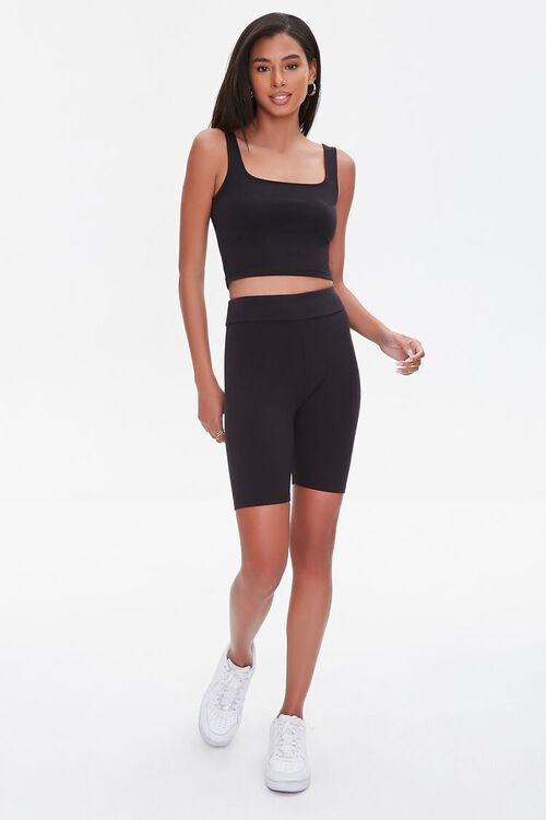 Cotton-Blend Cropped Tank Top, image 4