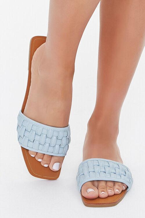 Crosshatch Square-Toe Flat Sandals, image 7