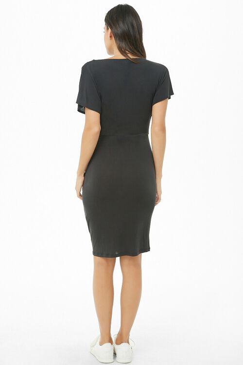 Ruched Knee-Length Dress, image 3