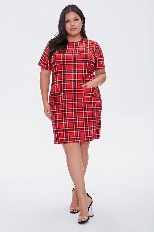 Plus Size Plaid Mini Dress, image 4