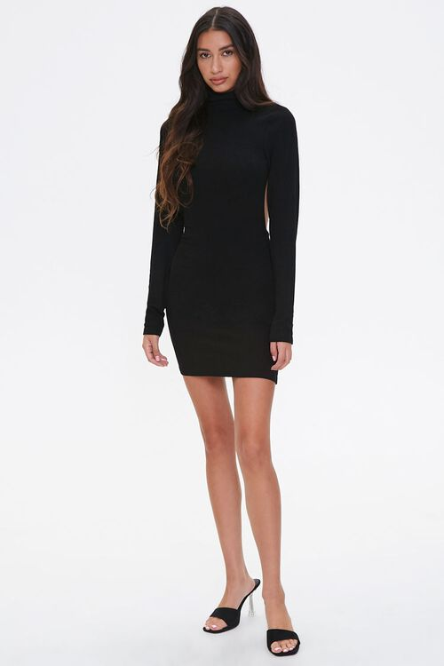 Open-Back Turtleneck Dress, image 4