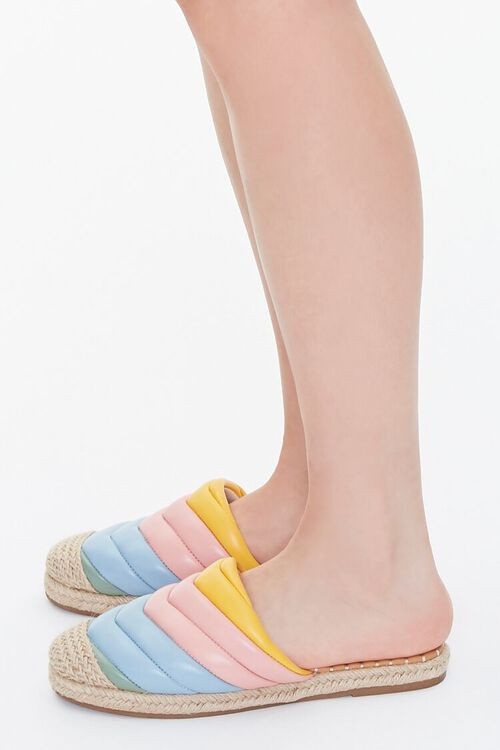Quilted Rainbow Espadrille Flats, image 2
