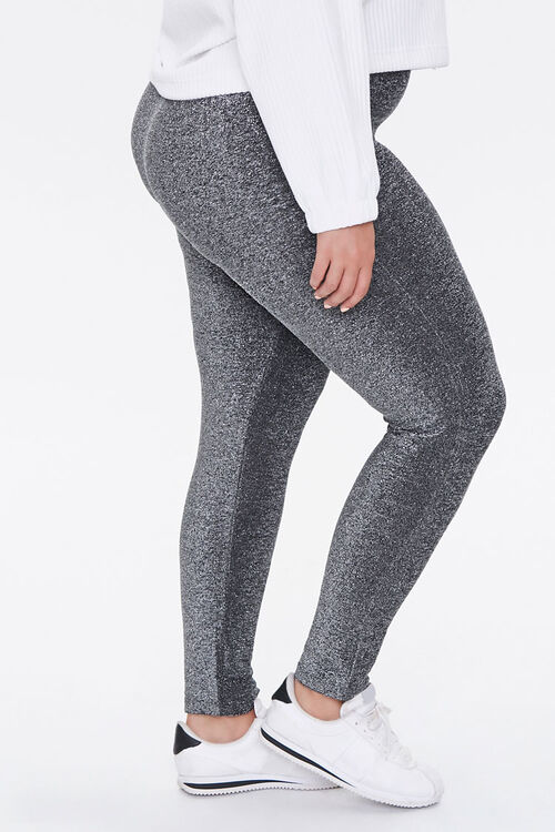 Plus Size Glitter Knit Leggings, image 3
