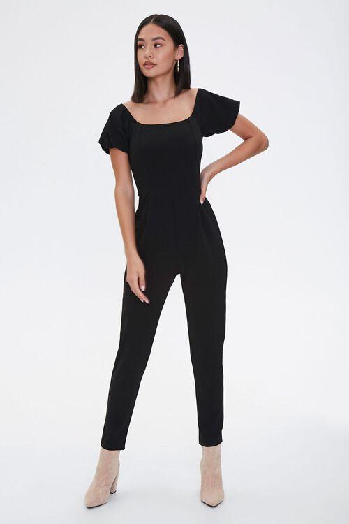 Puff-Sleeve Jumpsuit, image 1