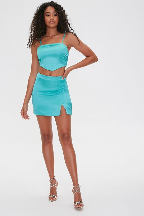 Satin Cropped Scarf Top, image 4