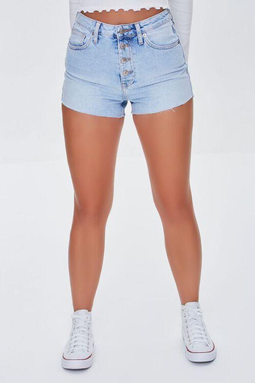 Retro High-Rise Denim Shorts, image 2