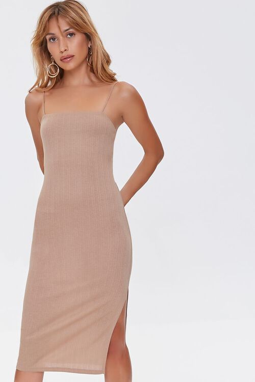 TAUPE Cami Slit Dress, image 1