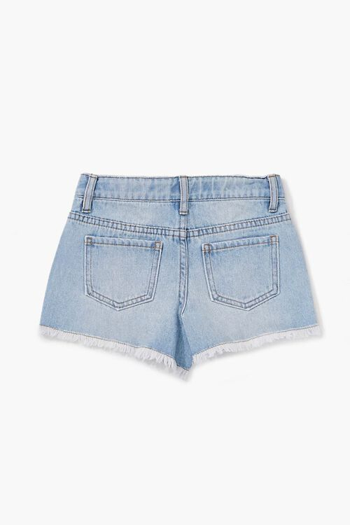 Girls Faux Gem Denim Shorts(Kids), image 2