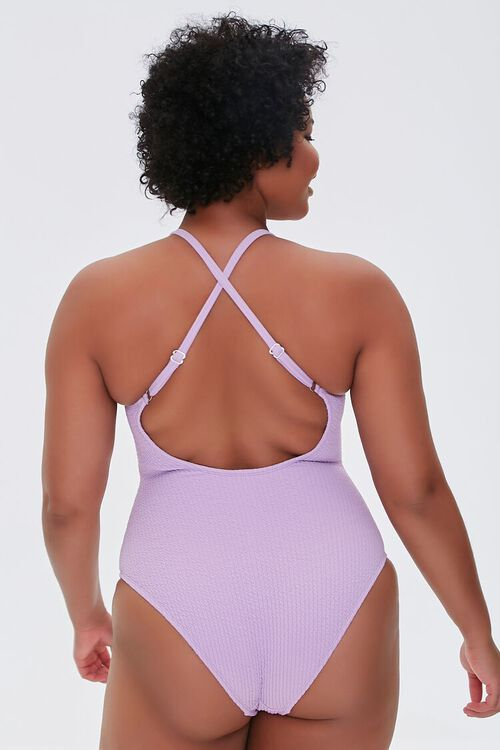 Plus Size Crisscross One-Piece Swimsuit, image 3