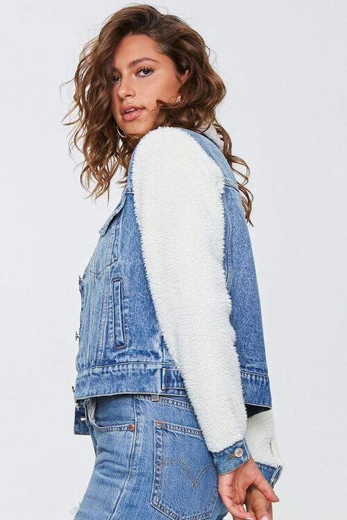 Fleece-Trim Denim Jacket, image 2