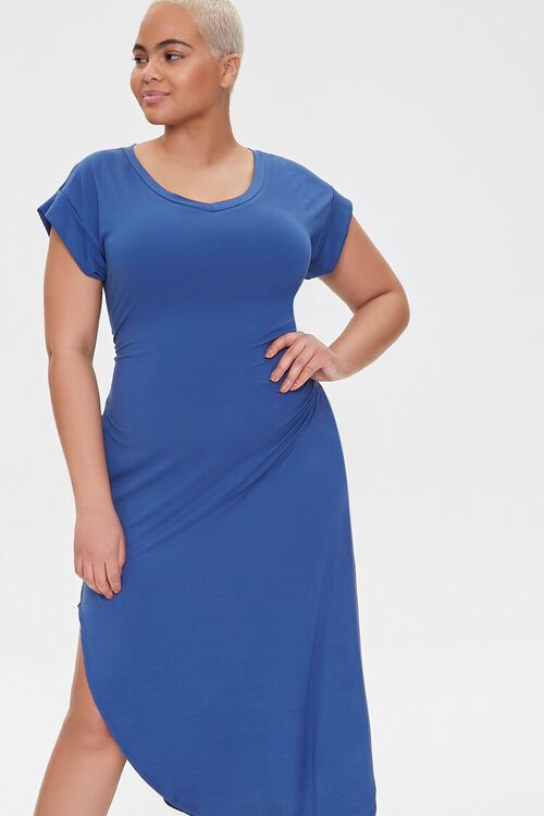 Plus Size Scoop-Hem Bodycon Dress, image 4