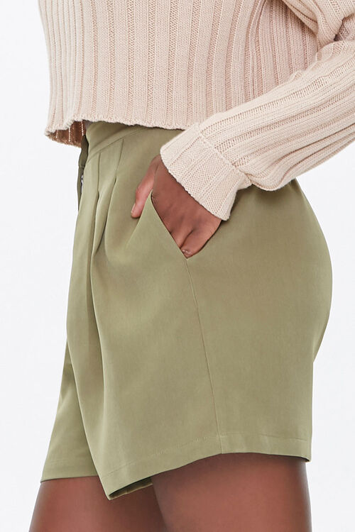 Pleated High-Rise Shorts, image 3