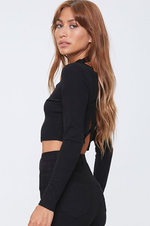 Ribbed Caged-Back Top, image 2