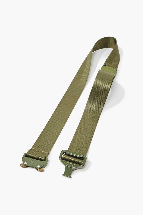Men Grosgrain Metal-Buckle Belt, image 2
