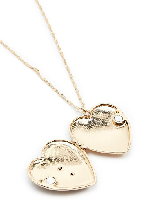 Heart Locket Rope Chain Necklace, image 4