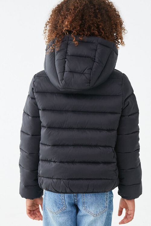 Girls Hooded Puffer Jacket (Kids), image 3