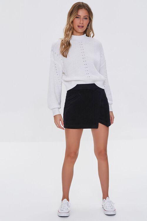 BLACK Corduroy Mini Skirt, image 5