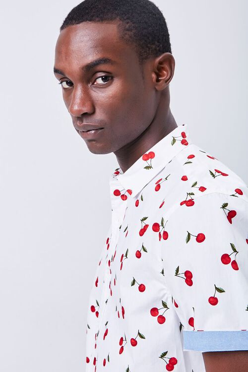 Fitted Cherry Print Shirt, image 5