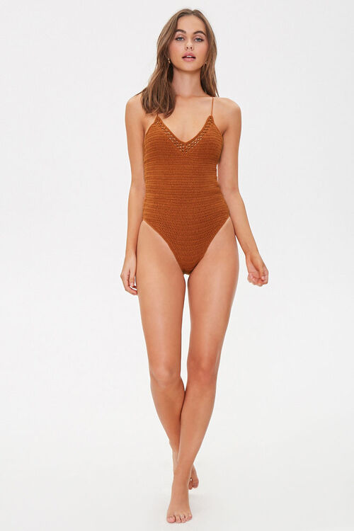 Crochet One-Piece Swimsuit, image 4