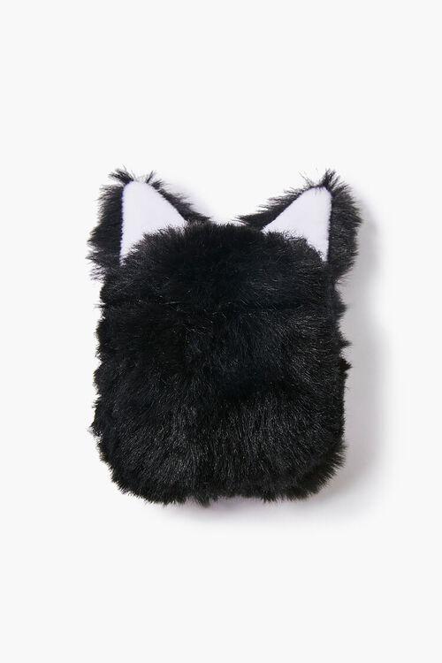 BLACK/MULTI Plush Cat Earbuds Holder, image 2