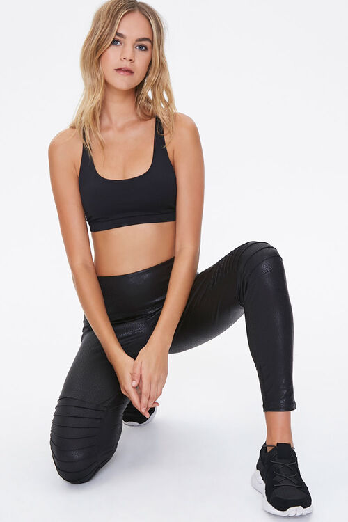 Active Faux Leather Moto Leggings, image 1