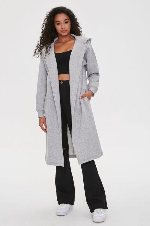 Hooded Heathered Duster Jacket, image 4