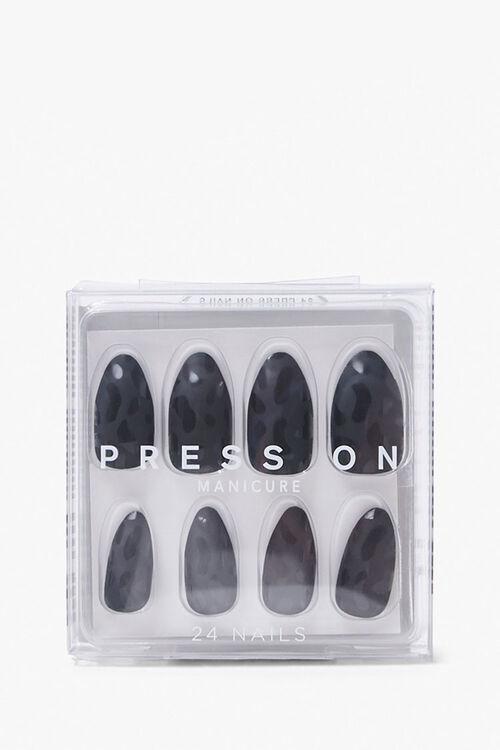 Monochrome Leopard Print Press-On Nails, image 1