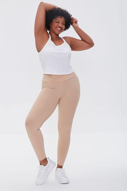 Plus Size Basic Organically Grown Cotton Leggings, image 1