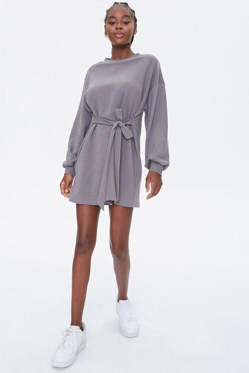 French Terry Tie-Waist Dress, image 4