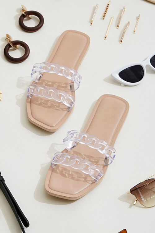 Clear Chain-Strap Sandals, image 1