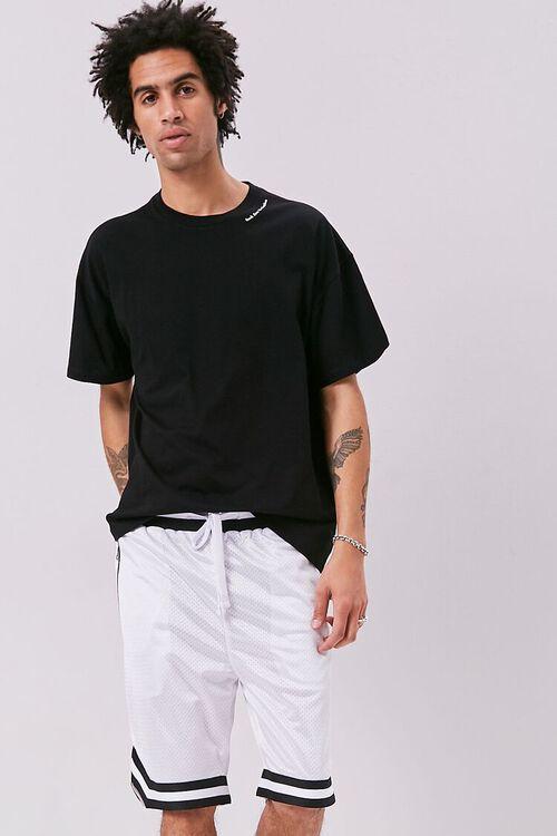 Varsity-Striped Mesh Shorts, image 6