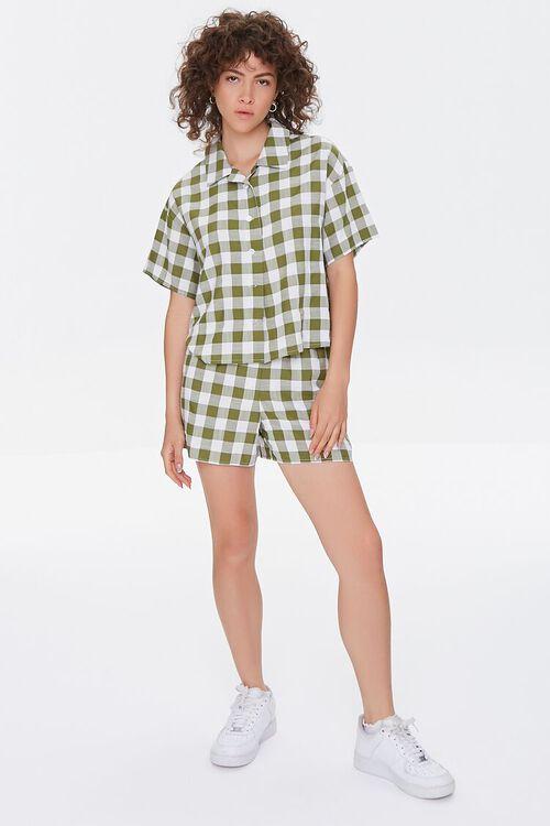 Gingham Shirt & Shorts Set, image 4