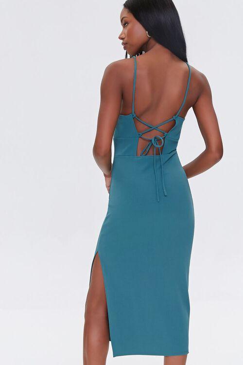 Lace-Up Midi Cami Dress, image 2