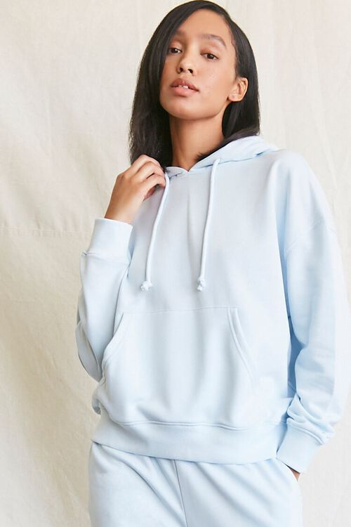 French Terry Drawstring Hoodie, image 1