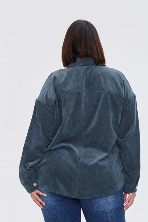 TEAL Plus Size Corduroy Jacket, image 3