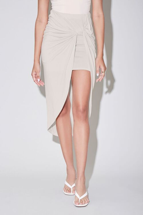 Twisted High-Low Skirt, image 2