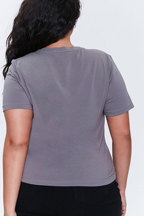 Plus Size Face Graphic Tee, image 3